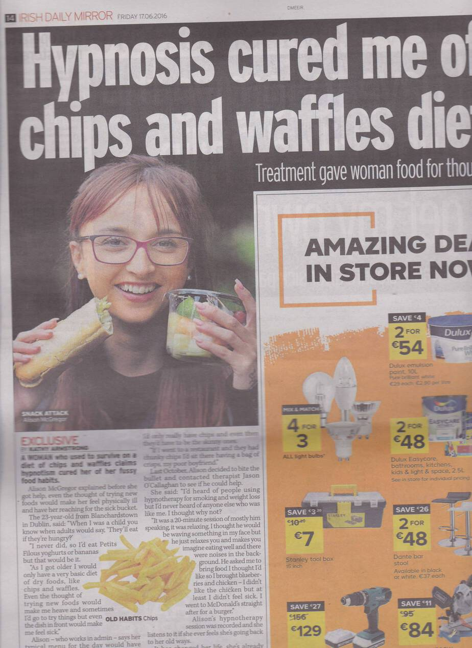 Hypnosis cured me of chips and waffles diet